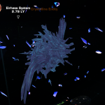 Screenshot of the crystalline entity from star trek online