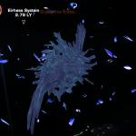 Screenshot of the crystalline entity from star trek online