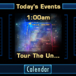 Screenshot of tour the universe event