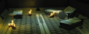 Sleeping quarters of dr sibak